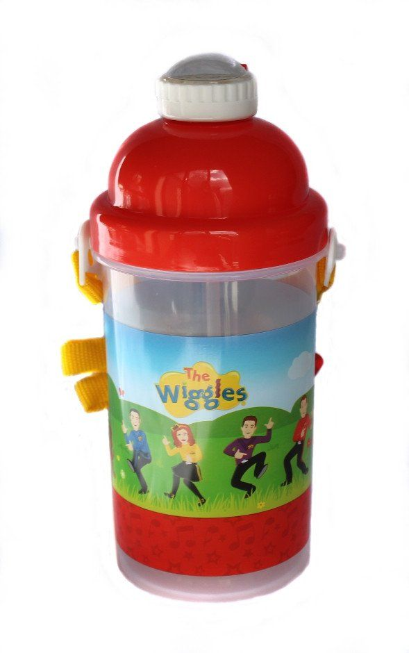 Featuring a strap to hang around your neck, a clever no-spill design with a release-button to pop open the lid. Holds 500ml and looks great! Wiggles Drink Bottle
