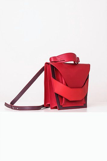 Linda Sieto / Soft Edge Part II./ FW16/17 - Layered Red Burgundy Bag