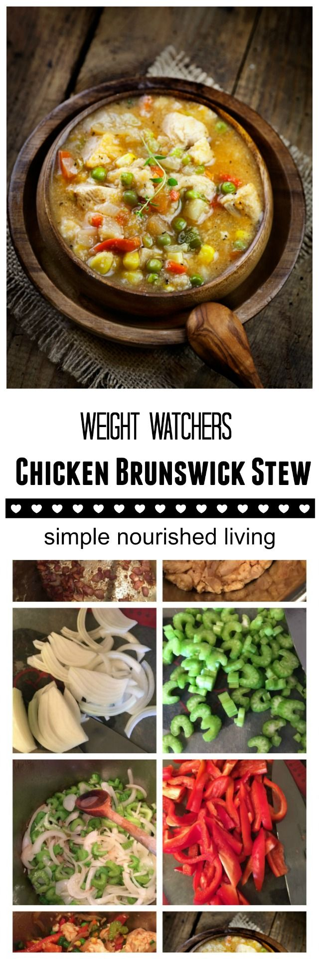 Weight Watchers Brunswick Chicken Stew. Simple + Hearty + Delicious. 6WWPP http://simple-nourished-living.com/2015/02/weight-watchers-chicken-brunswick-stew-recipe/