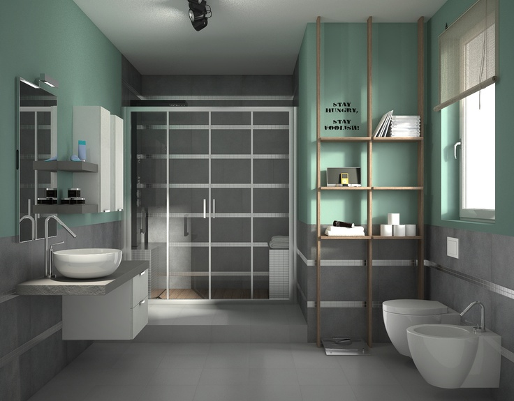 68 best progetta il tuo bagno images on pinterest bathrooms laundry room and attic spaces - Progetta il tuo bagno ...