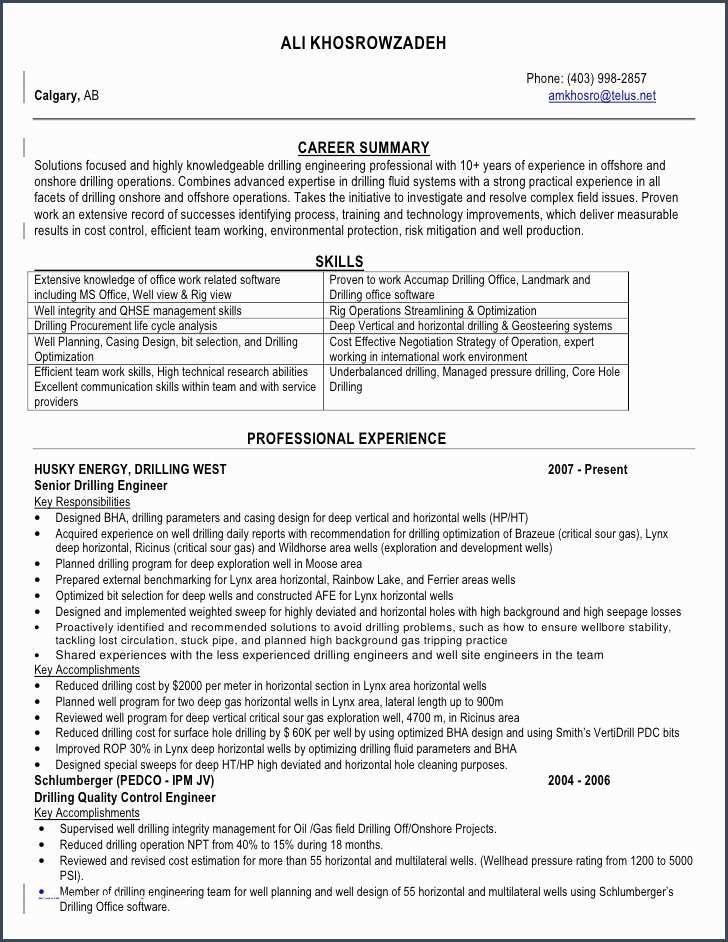 47 Oil Field Engineer Sample Resume Field Engineer Professional Resume Samples Sample Resume
