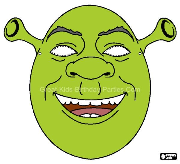 Free #Printable Halloween Masks - Shrek Mask