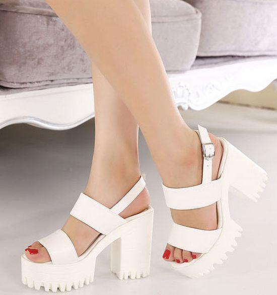 Best 25  Chunky heel sandals ideas on Pinterest | Heel, Heels ...