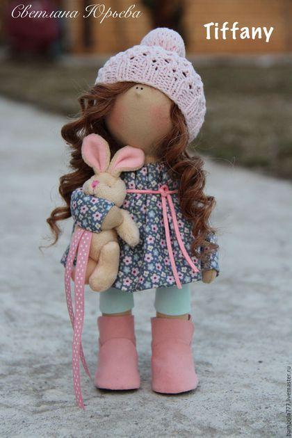Купить Интерьерная кукла В НАЛИЧИИ - бледно-розовый, кукла ручной работы, кукла в подарок