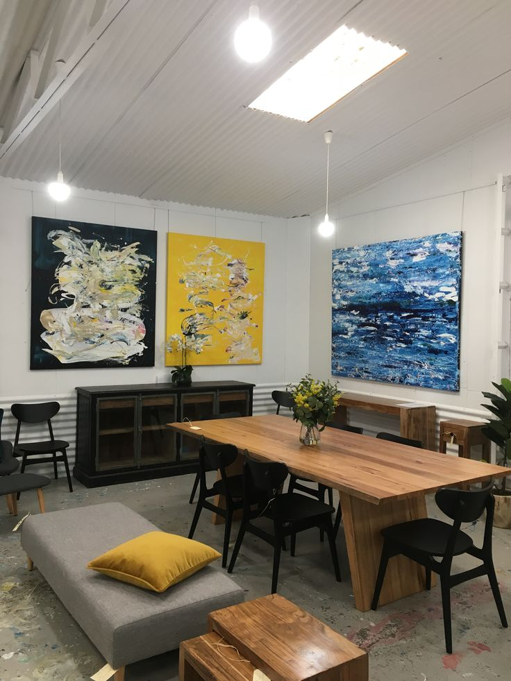 Pop up furniture and art.  January 2017