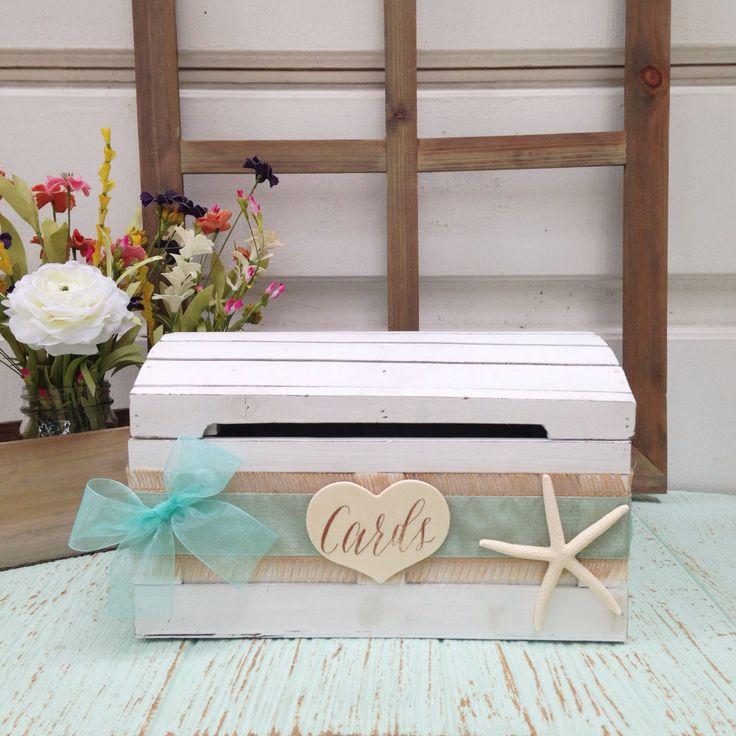 Beach Wedding Card Box Seaside Decor Wedding Advice by LoRustique, $54.50