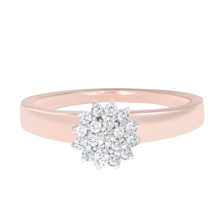 Elegante Anillo de Roseta. Oro Rosa 14k y .19ct de Diamante Naturales. ¡Luce elegante y chic! | https://www.facebook.com/joyeriagn/?ref=hl