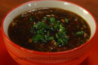 Hot And Sour Vegetable Soup: Quick and easy to make piquant vegetable soup.