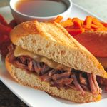 Crock pot French Dips - Wasn't amazing, but wasn't too bad...