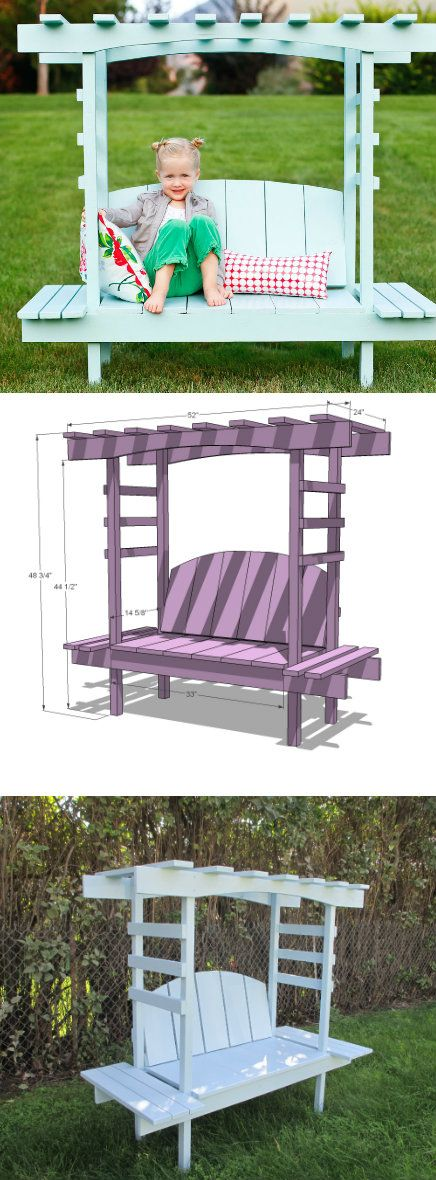 How to Make Kids Arbor Bench - DIY & Crafts                                                                                                                                                                                 More