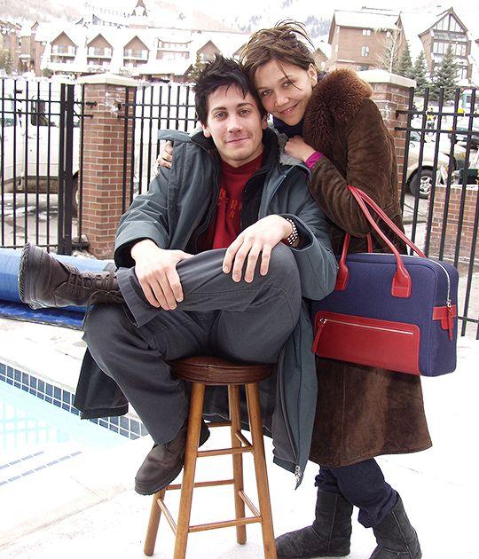 Jake Gyllenhaal and Maggie Gyllenhaal photographed at the 2001 Sundance Film Festival - Hogan At Sundance
