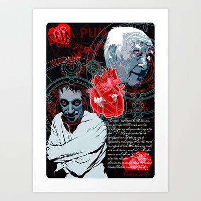 El corazón delator Art Print by Elespejo-inc - $14.56