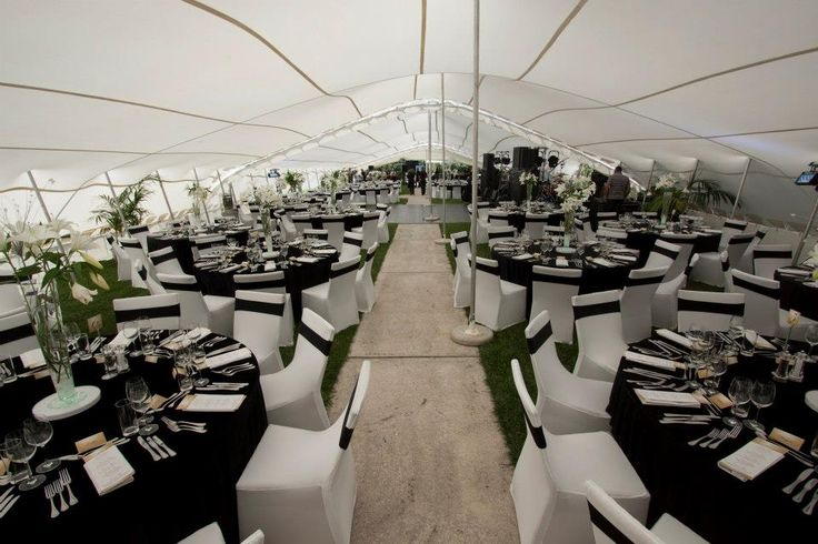 Gorgeous Black and white for a corporate event.