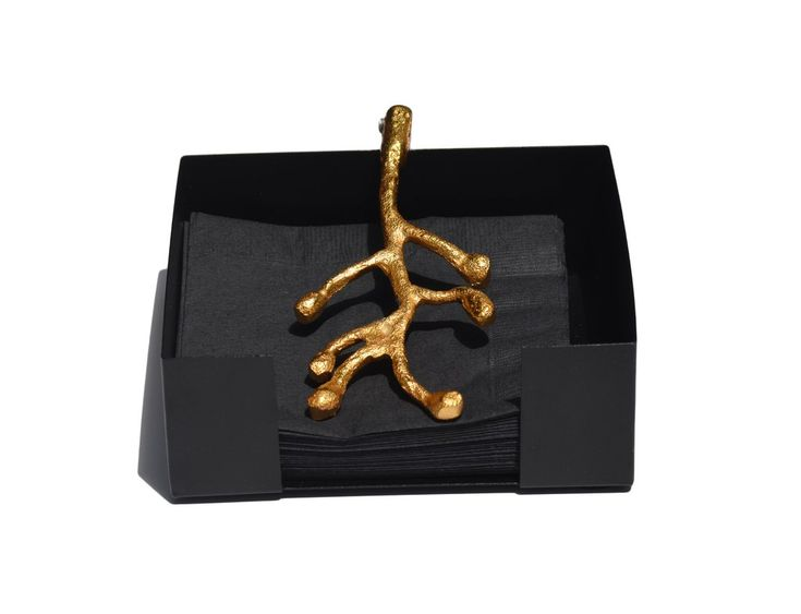 Napkin Holder Dinning Decor (Golden Olive Bud)