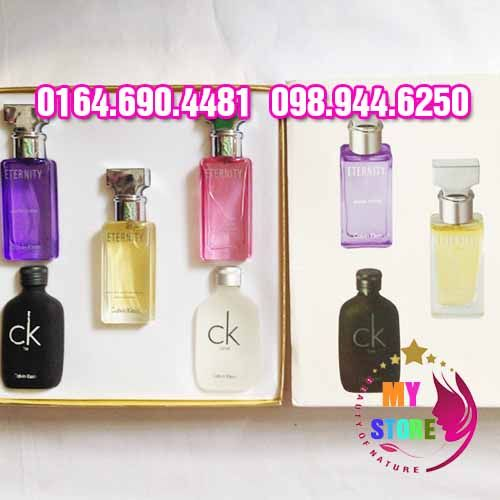 Bộ nước hoa mini ck chính hãng nhập khẩu với 5 mùi hương thơm khác nhau mang đến cho khách hàng những trải nghiệm bất tận về hương thơm khuyến rũ nữ tính