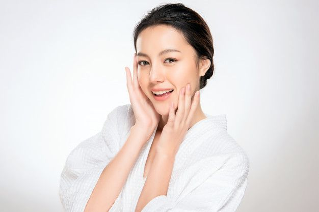 Beautiful Young Asian Woman With Clean Fresh Skin Fresh Skin Korean Skincare Routine Skin
