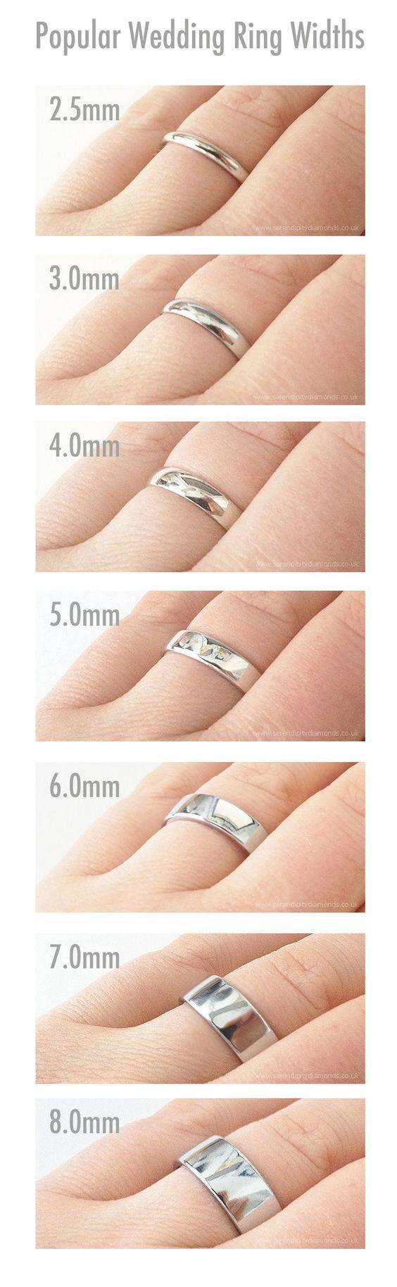 ¿Ya han elegido el ancho perfecto para sus anillos de #matrimonio? #WeddingBands: