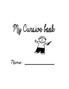 Each page has space for Capital and lower case letter cursive practice.26 letters in cursive.