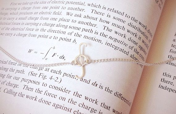 Integral Symbol Necklace Sterling Silver by OnceUponASine on Etsy