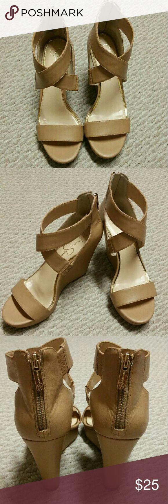Jessica Simpson Beige Wedges Like new Jessica Simpson Beige Wedges Shoes Wedges