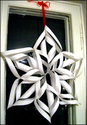 Paper snowflake - I love making these every year! it's fun using different colours and sizes