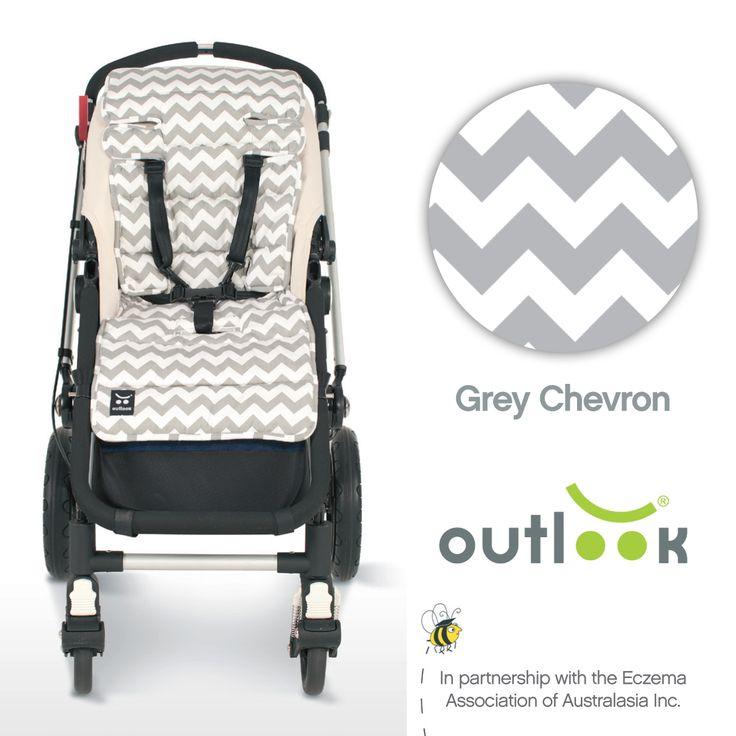 Outlook Cotton Pram Liner Grey Chevron