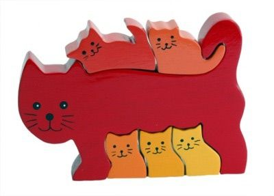 Wooden Toys from ImagiPlay: Wooden Toys From ImagiPlay - Cat Puzzle
