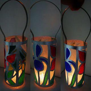 Pomysły plastyczne dla każdego DiY - Joanna Wajdenfeld: Witrażowe papierowe lampiony