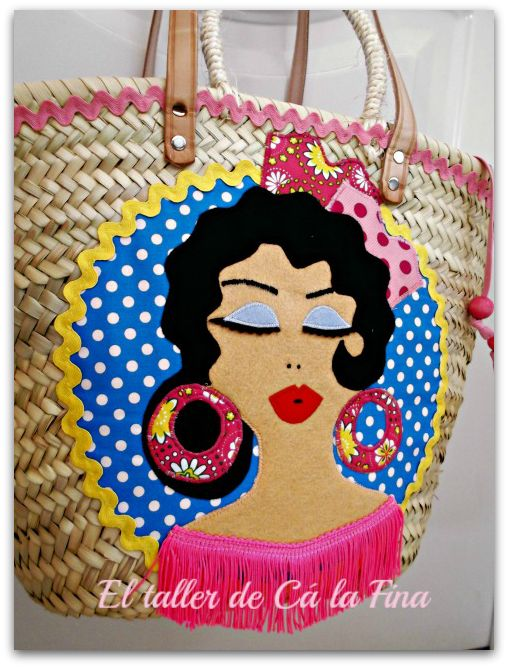 """Capazo flamenco """"Rumba"""", detalle. #capazosdecorados #capazospersonalizados #capazos"""