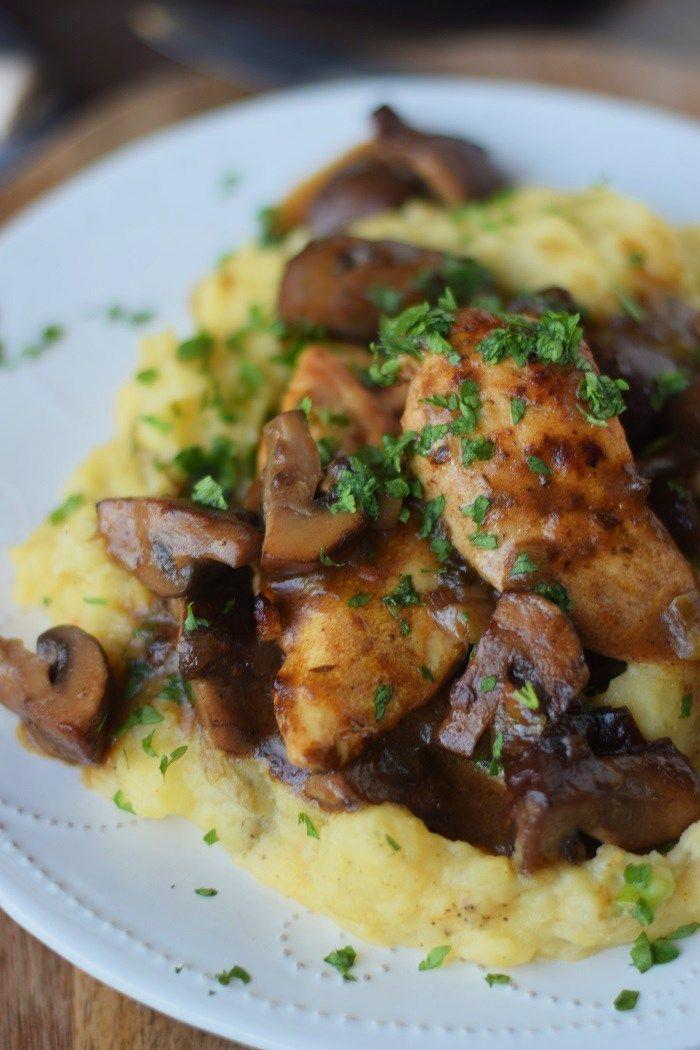 Madeira-Hähnchen mit Kartoffelbrei