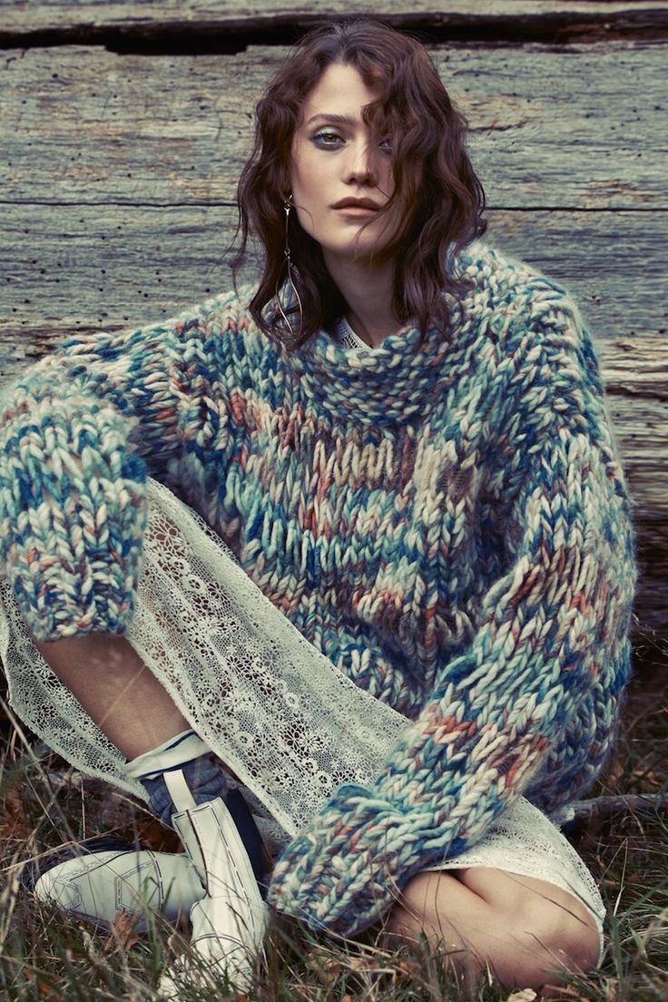 Colourful yarn jumper