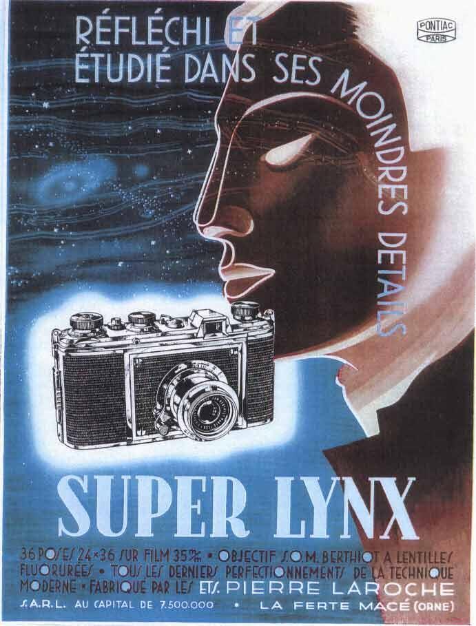 Publicité pour l'appareil photo Super Lynx, de la marque Pontiac - Année 1951