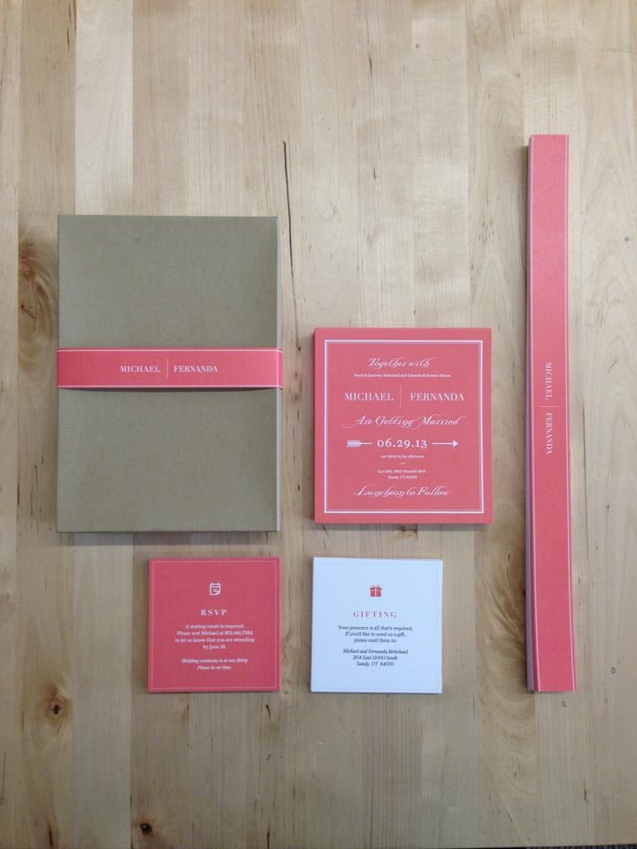 Wedding Invitation Design for Bohme owner, Fernanda Bohme.