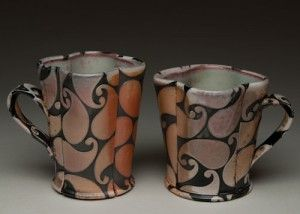 Using Vinyl Masking and Sandblasting to Create Textured and Patterned Wood-Fired Pottery
