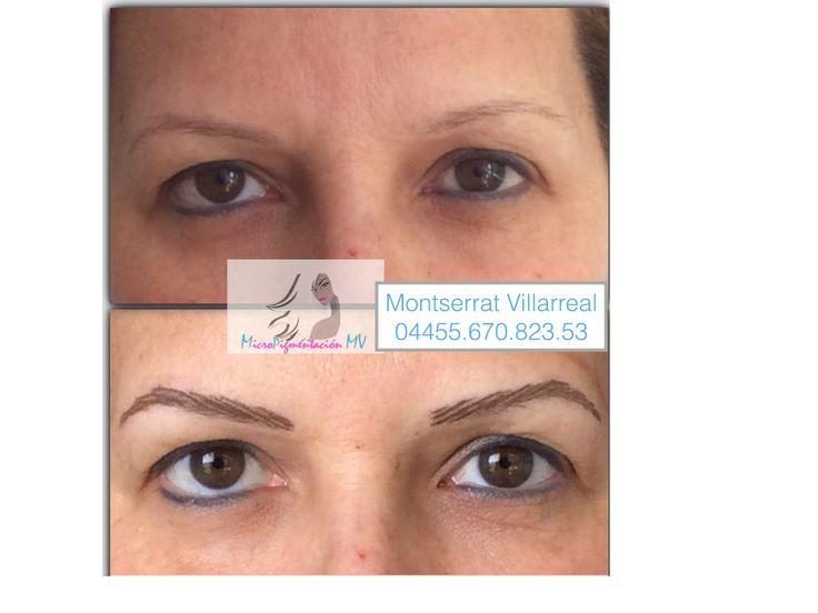 micropigmentacion de cejas antes y despu233s a domicilio