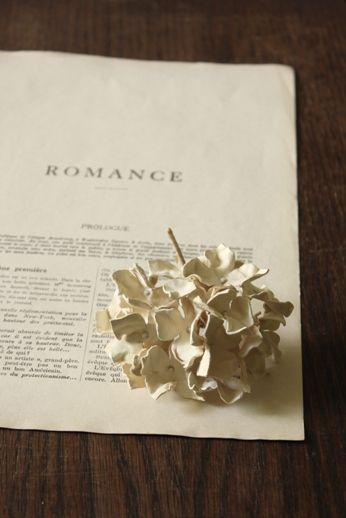 紫陽花 レザー コサージュ | Hydrangea Leather Corsage - White | IRRE
