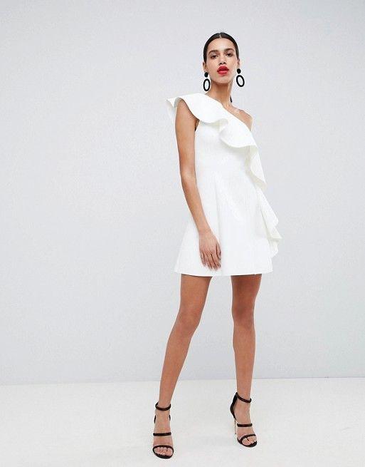 a88e70130eccc DESIGN one shoulder ruffle a-line mini dress   ASOS Wishlist   One ...