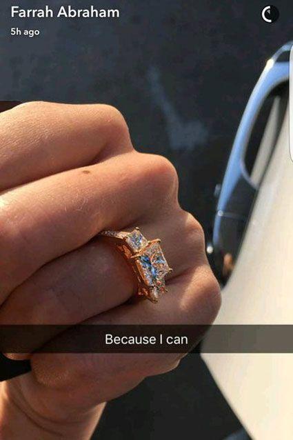 'Teen Mom OG' Star Farrah Abraham Shares Pic of Diamond Ring She Bought Herself | Entertainment Tonight
