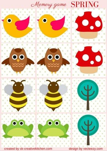 SEASONS - #MEMORY #GAME FREE PRINTABLES / #PRESCHOOL