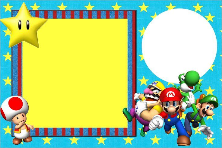 Invitaciones De Cumpleaños De Mario Bros Para Descargar Gratis 22  en HD Gratis