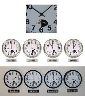 24 Best Wall Clock Time Zone Idea Images On Pinterest