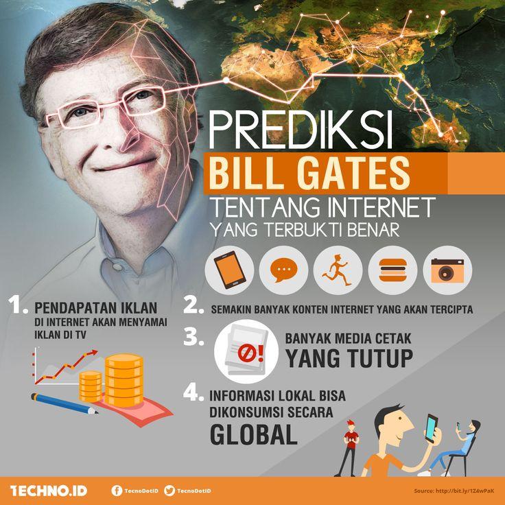 Beberapa prediksi Bill Gates yang terbukti benar tentang internet http://bit.ly/1Z4wPaK