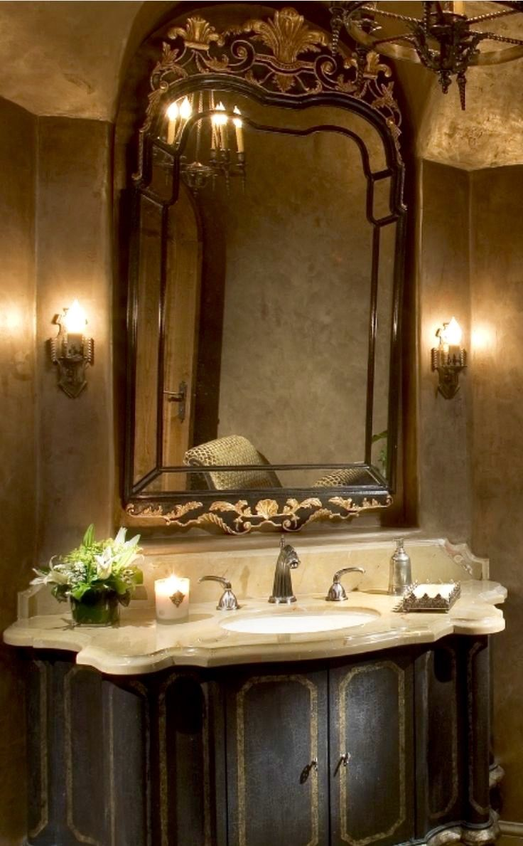 Tuscan decor bathroom - Old World Mediterranean Italian Spanish Tuscan Homes Decor