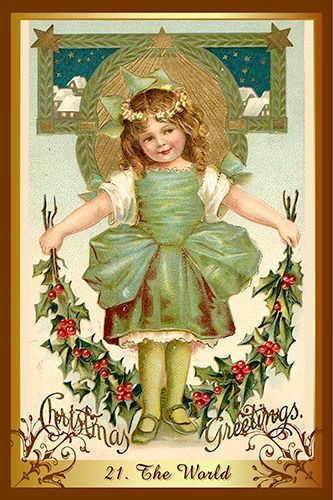 Free Daily Tarotscope -- Dec 25, 2015 -- The World -- Today's card — The World from the beautiful Christmas Tarot — is all about looking at the bigger picture and tracing the steps that have led you to where you are today. (more)...