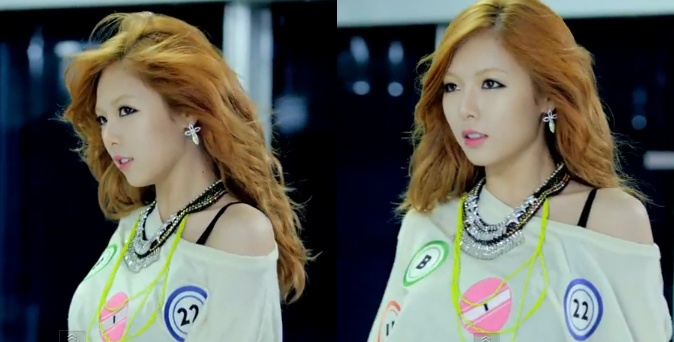 Hyuna's Hair color and makeup Gangnam Style