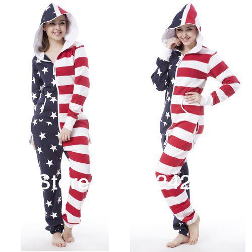 ultimo tuta con felpe con cappuccio adulto tutine in pile salto in tuta unica novità felpa con cappuccio un pezzo bandiera americana uomo donna