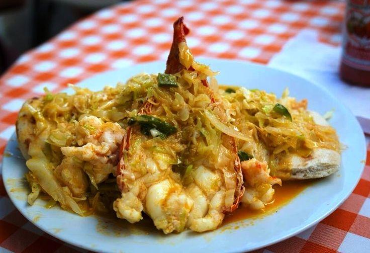 Waruguma's Lobster Burrito! San Pedro, Ambergris Caye #Belize