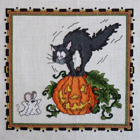 Ghost Mouse Halloween Cross Stitch Pattern by StitchNotions, $3.50