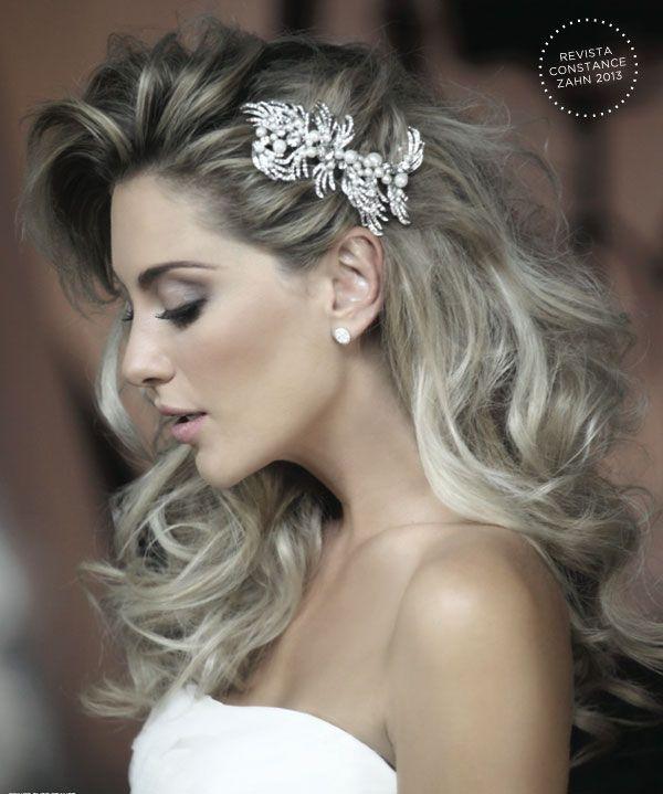 Casamento e Beleza Noiva - Penteado com Tiara (Beleza: Jr Mendes   Foto: Drausio…