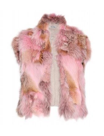 mytheresa.com - Miu Miu - KNIT VEST WITH FUR TRIM - Luxury Fashion for Women / Designer clothing, shoes, bags - StyleSaysFur Coats, Knits Vest, Miumiu, Style, Fashion Addict, Miu Miu, Miu Knits, Fur Trim, Pink Fur